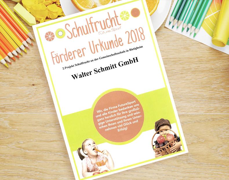 Schmitt News – Schulfrucht Projekt