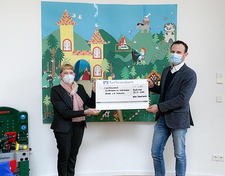 Unser Weihnachtspräsent: Spende für krebskranke Kinder